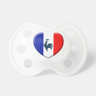 Ik houd van haan vlag Frankrijk Fopspeen