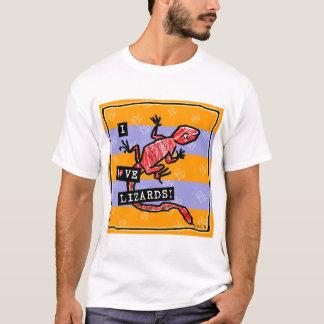 Ik houd van hagedissen t shirt