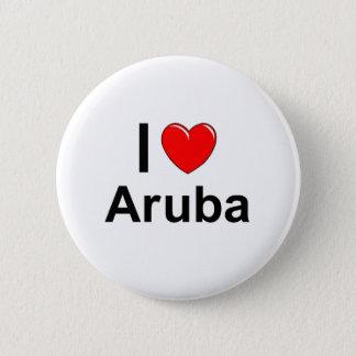 Ik houd van Hart Aruba Ronde Button 5,7 Cm