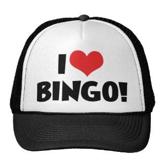 Ik houd van Hart Bingo! - Minnaars Bingo Petten Met Netje