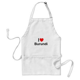 Ik houd van Hart Burundi Standaard Schort