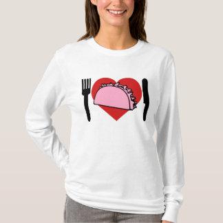 Ik houd van Hart de Roze Vork van het Mes van T Shirt
