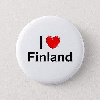 Ik houd van Hart Finland Ronde Button 5,7 Cm