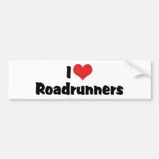 Ik houd van Hart Roadrunners Bumpersticker
