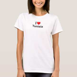 Ik houd van Hart Tunesië T Shirt