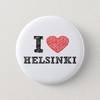Ik houd van Helsinki Ronde Button 5,7 Cm