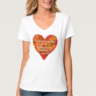 Ik houd van herfst-Rood Hart 1, van het Blad van T Shirt
