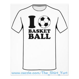 Ik houd van het Basketbal van de Bal van het Flyer 11,4 X 14,2 Cm