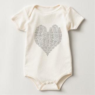Ik houd van het Binaire getal van de Technologie Baby Shirt