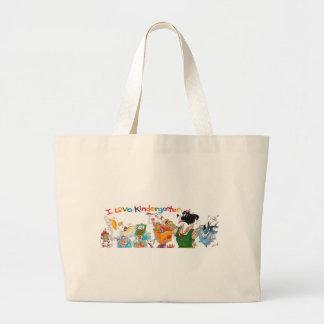 Ik houd van het Canvas tas van de Kleuterschool