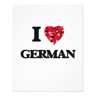 Ik houd van het Duits Flyer 11,4 X 14,2 Cm