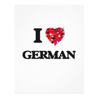 Ik houd van het Duits Flyer 21,6 X 27,9 Cm