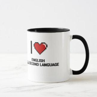 Ik houd van het Engels als Digitaal Ontwerp van de Mok