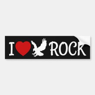 Ik houd van het Hart van de Rots van Eagle Bumpersticker