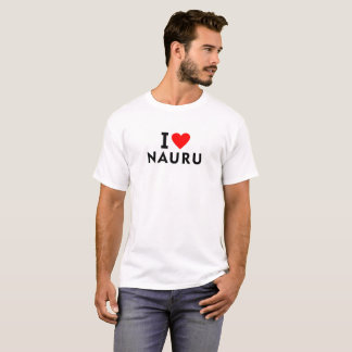 Ik houd van het land van Nauru zoals het toerisme T Shirt