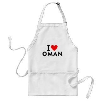 Ik houd van het land van Oman zoals het toerisme Standaard Schort