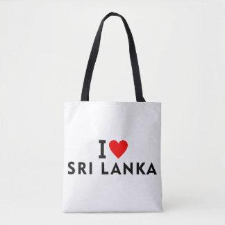 Ik houd van het land van Sri Lanka zoals het Draagtas