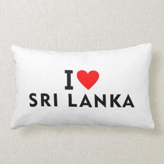Ik houd van het land van Sri Lanka zoals het Lumbar Kussen