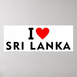 Ik houd van het land van Sri Lanka zoals het Poster