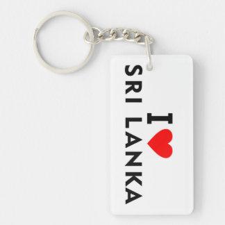Ik houd van het land van Sri Lanka zoals het Sleutelhanger