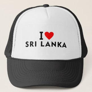 Ik houd van het land van Sri Lanka zoals het Trucker Pet