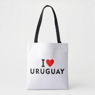 Ik houd van het land van Uruguay zoals het Draagtas