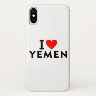 Ik houd van het land van Yemen zoals het toerisme iPhone X Hoesje