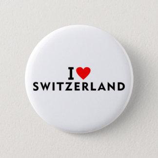 Ik houd van het land van Zwitserland zoals touri Ronde Button 5,7 Cm