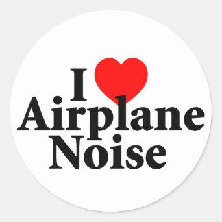 Ik houd van het Lawaai van het Vliegtuig Ronde Stickers