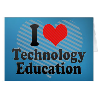 Ik houd van het Onderwijs van de Technologie Kaart