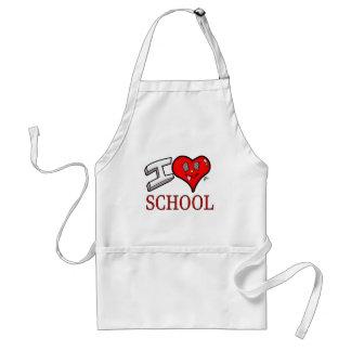Ik houd van het Ontwerp van de School voor Standaard Schort