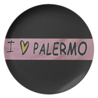 Ik houd van het Ontwerp van Palermo Melamine+bord