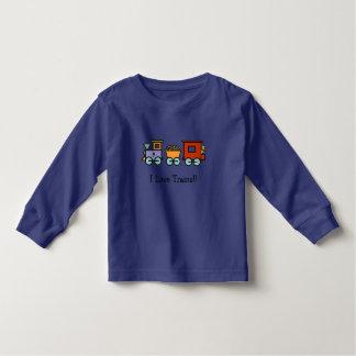Ik houd van het Overhemd van Treinen Kinder Shirts