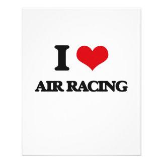 Ik houd van het Rennen van de Lucht Folders