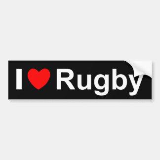 Ik houd van het Rugby van het Hart Bumpersticker