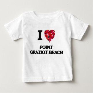 Ik houd van het Strand New York van Gratiot van T-shirts