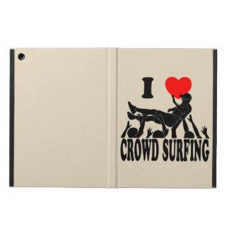 Ik houd van het Surfen van de Menigte (mannetje) iPad Air Hoesje