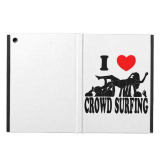 Ik houd van het Surfen van de Menigte (vrouw) iPad Air Hoesje