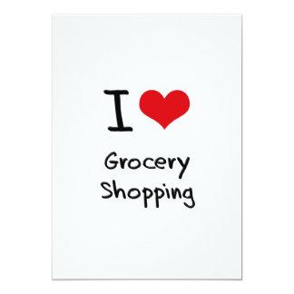 Ik houd van het Winkelen van de Kruidenierswinkel Kaart