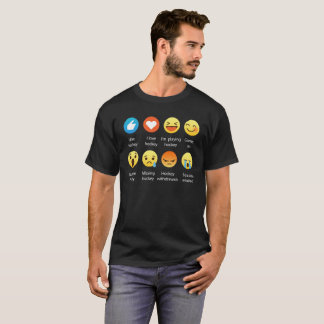 Ik houd van HOCKEY Sociale Emoticon (emoji) - T Shirt