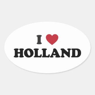 Ik houd van Holland Ovaalvormige Stickers