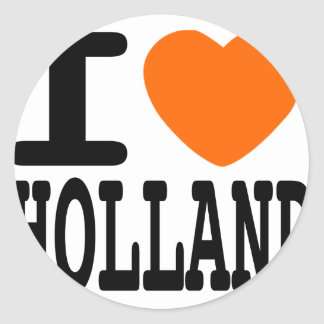 Ik houd van Holland Ronde Sticker