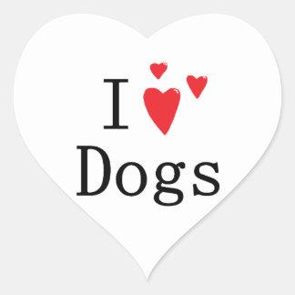 Ik houd van Honden Hart Sticker