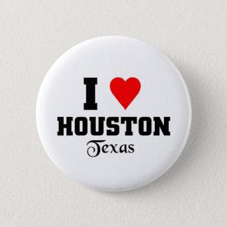 Ik houd van Houston, Texas Ronde Button 5,7 Cm