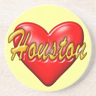Ik houd van Houston Zandsteen Onderzetter