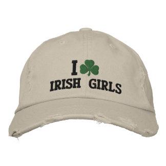 Ik houd van Iers Meisjes Geborduurd Pet Geborduurde Baseball Cap