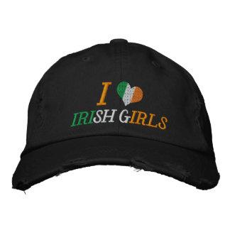 Ik houd van Ierse Meisjes Geborduurde Basebal Pet