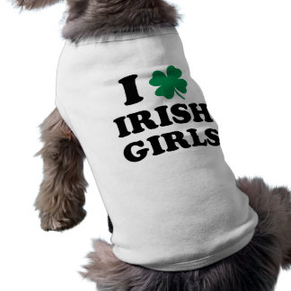 Ik houd van Ierse Meisjes Mouwloos Hondenshirt