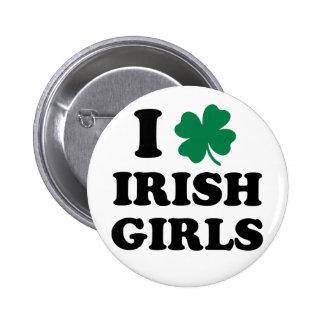Ik houd van Ierse Meisjes Ronde Button 5,7 Cm