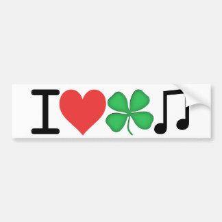 Ik houd van Ierse Muziek Bumpersticker